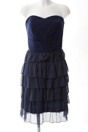 Orsay Cocktailkleid weiß-blau Punktemuster Elegant