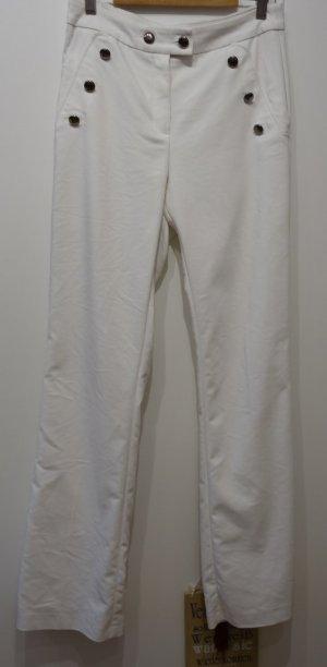 Orsay Flagship high-waist Pants Hose creme-weiß Gr. 38 Marine Sailor Retro Style