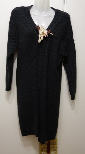 Orsay flauschiger Cardigan Strickjacke Wolle Gr. M anthrazit Lagenlook