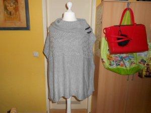 Orsay Poncho gris clair tissu mixte