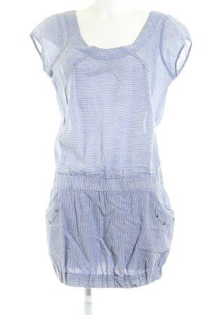 Orsay Vestido tipo blusón blanco puro-azul estampado a rayas look casual