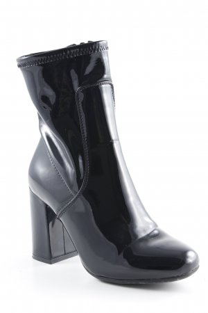 Orsay High Heel Stiefel schwarz Lack-Optik