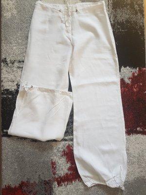 Orsay Pantalón de lino blanco