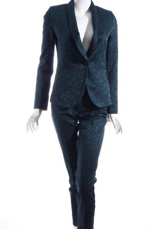 Orsay Hosenanzug dunkelgrün florales Muster Business-Look