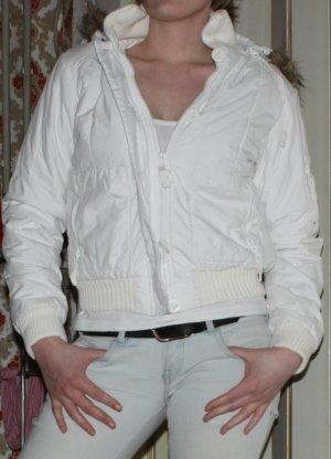 Orsay Jacke, weiß mit Fake-Fell an der Kapuze, Gr. S