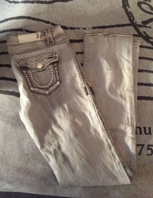 Orsay Jeans grau/ weiss