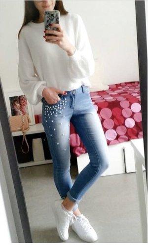 Orsay Jeans mit Perlenbesetzung