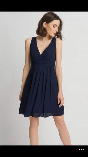 Orsay Kleid Abendkleid Cocktailkleid dunkelblau V-Ausschnitt