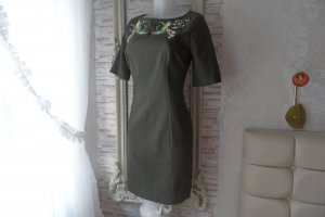Orsay Shortsleeve Dress forest green cotton