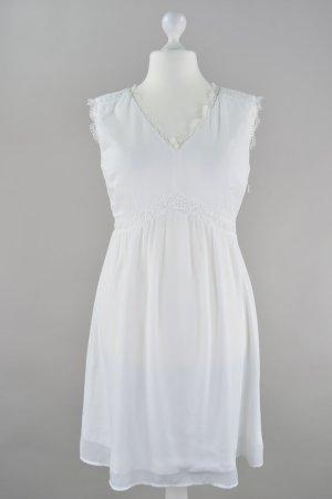 Orsay Kleid mit Häkelspitzeverzierungen weiß Größe 42