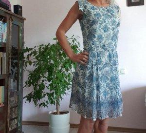 Orsay Kleid Volant Sommerkleid Paisley Gr. S/36 blau weiss Neu