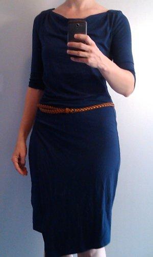 ORSAY Kleid Wickelkleid Gr. 38 dunkelblau Stretchkleid Klassiker
