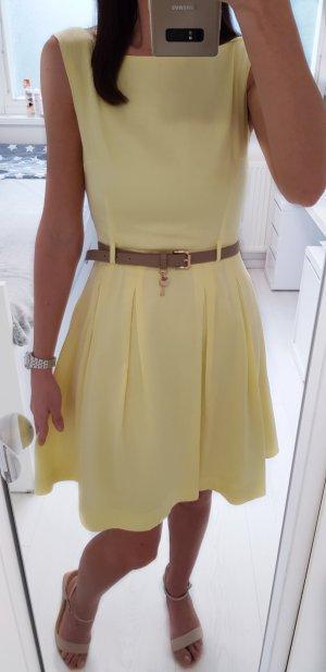 Orsay Kleid XS gelb mit Gürtel