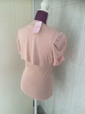 Orsay Blouse Top rose-gold-coloured-dusky pink cotton