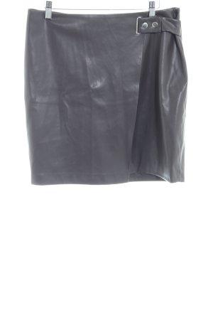Orsay Falda de cuero de imitación marrón oscuro estilo «business»
