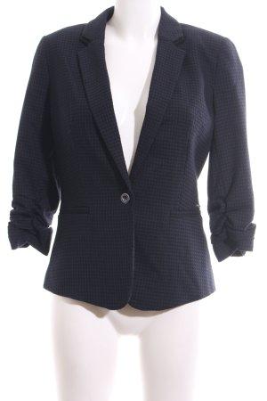 Orsay Kurz-Blazer blau Karomuster Business-Look