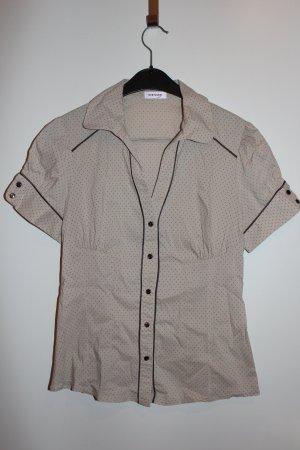 Orsay kurzarm Bluse Hemd braun beige Gr. 38 M Damen