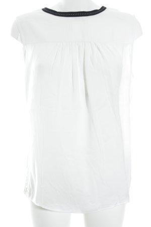 Orsay Kurzarm-Bluse weiß-schwarz schlichter Stil
