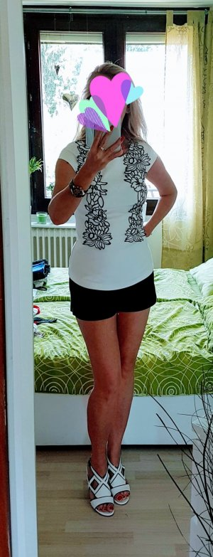 Orsay Blouse met korte mouwen wit-zwart