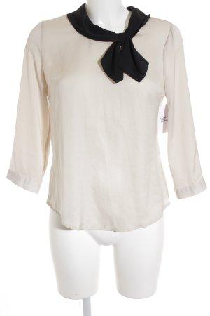 Orsay Langarm-Bluse creme-schwarz Casual-Look