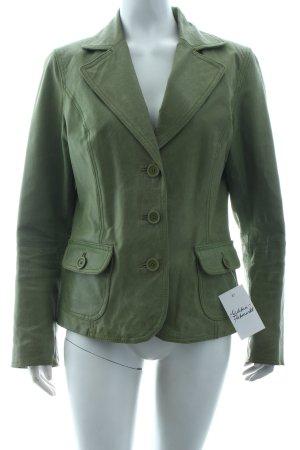 Orsay Leder-Blazer grasgrün schlichter Stil