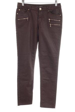 Orsay Pantalone in pelle marrone-rosso stile casual