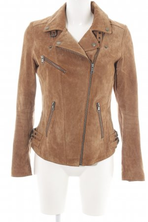 Orsay Leather Jacket bronze-colored-brown casual look