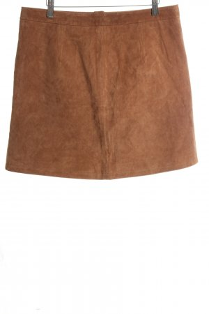 Orsay Leather Skirt bronze-colored casual look