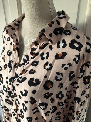 Orsay Leoparden Bluse mit Rüschen Ärmeln rosa
