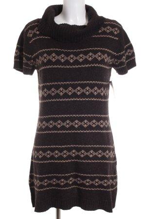 Orsay Jersey largo marrón-negro-crema estampado a cuadros mullido