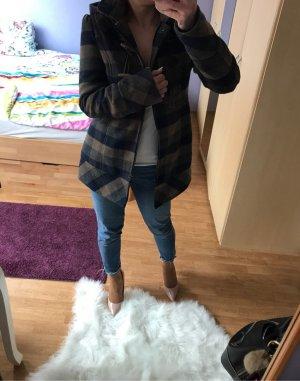 Orsay Abrigo marrón grisáceo-azul oscuro