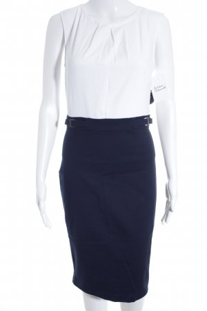 Orsay Midikleid weiß-dunkelblau Business-Look