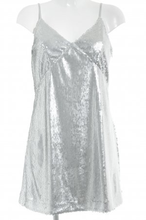 Orsay Robe à paillettes argenté élégant