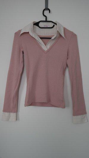 Orsay Pullover rosa mit Kragen Gr. XS