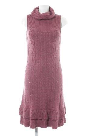 Orsay Sweaterjurk violet-roze kabel steek casual uitstraling