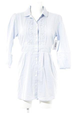 Orsay Rüschen-Bluse weiß-himmelblau Streifenmuster Casual-Look