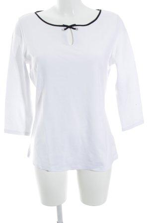 Orsay Rundhalspullover weiß-schwarz schlichter Stil