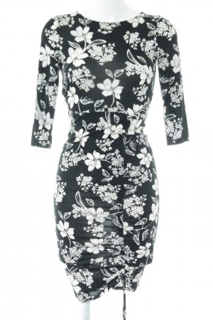 Orsay Tube Dress black-white flower pattern casual look