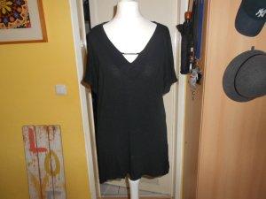 Orsay- schwarze Kurzarmbluse Gr. XL