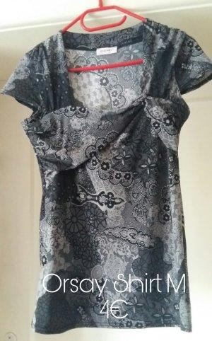 Orsay Shirt M grau schwarz