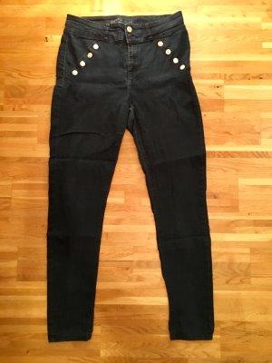 Orsay Pantalone a vita alta blu Cotone