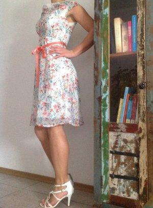 Orsay Sommerkleid Blümchenkleid mit Gürtel Neu Gr. S 36