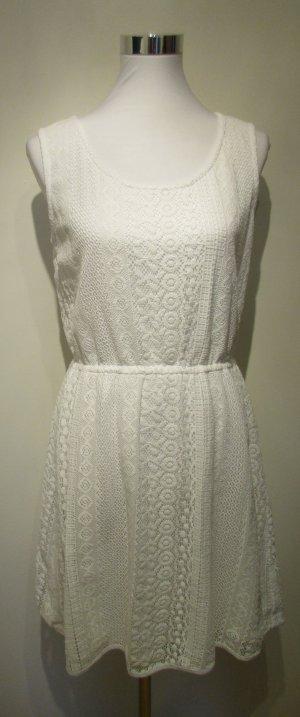 Orsay Robe en dentelle blanc tissu mixte