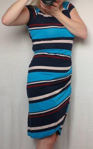 Orsay Sommerkleid mit Raffung, blau rot türkis weiß, Größe 36, NEU