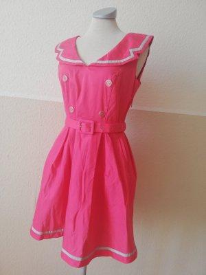 Orsay Sommerkleid pink silber Gr. 38 S M Kleid knielang