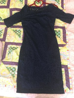 Orsay Lace Dress dark blue