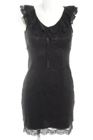 Orsay Spitzenkleid schwarz-dunkelviolett Elegant