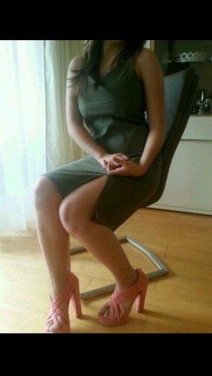 Orsay Stretch Träger Kleid Olive Neu!