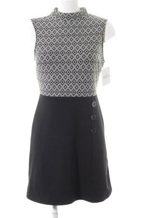 Orsay Stretchkleid schwarz-weiß grafisches Muster Business-Look