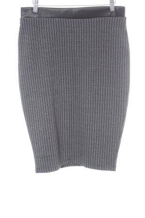 Orsay Stretchrock schwarz-weiß grafisches Muster Casual-Look
